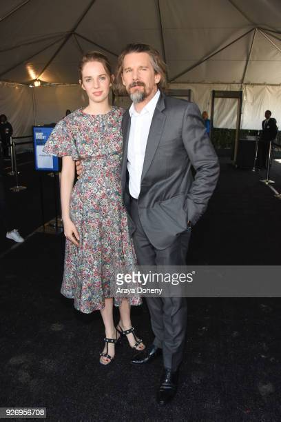 Maya Hawke and Ethan Hawke attend the 2018 Film Independent Spirit Awards on March 3 2018 in Santa Monica California
