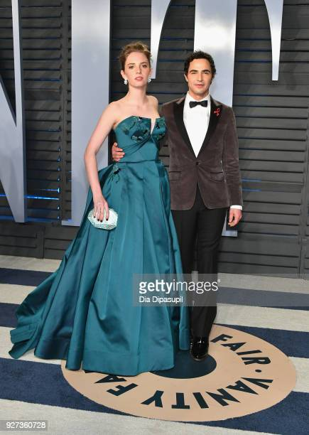 Maya Hawke and Zac Posen attend the 2018 Vanity Fair Oscar Party hosted by Radhika Jones at Wallis Annenberg Center for the Performing Arts on March...