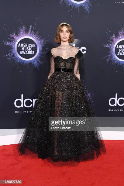 Maya Hawke attends the 2019 American Music Awards at Microsoft Theater on November 24 2019 in Los Angeles California