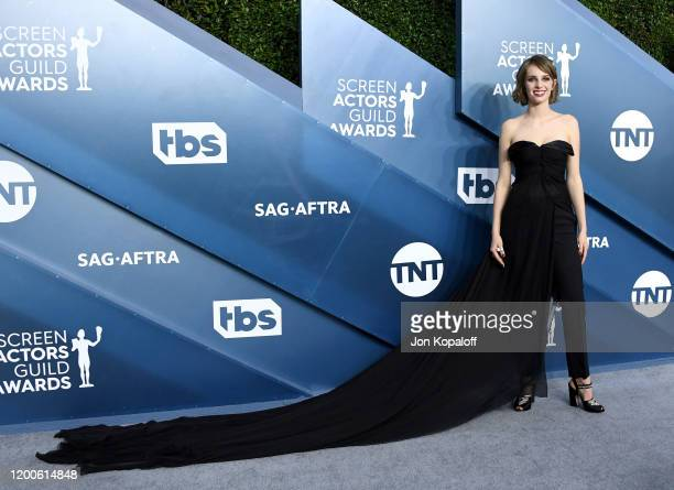 Maya Hawke attends the 26th Annual Screen Actors Guild Awards at The Shrine Auditorium on January 19 2020 in Los Angeles California