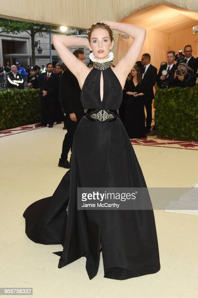Maya Hawke attends the Heavenly Bodies Fashion The Catholic Imagination Costume Institute Gala at The Metropolitan Museum of Art on May 7 2018 in New...