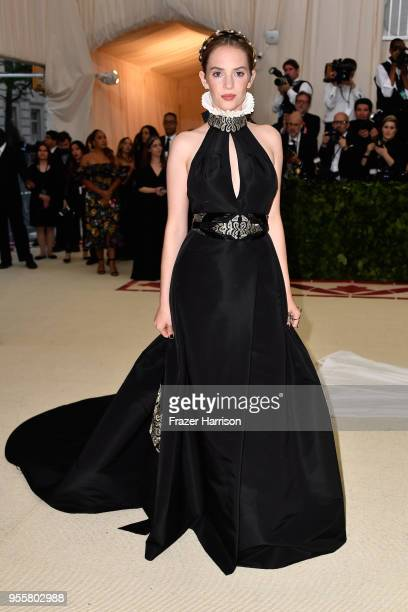 Maya Hawke attends the Heavenly Bodies: Fashion & The Catholic Imagination Costume Institute Gala at The Metropolitan Museum of Art on May 7, 2018 in...