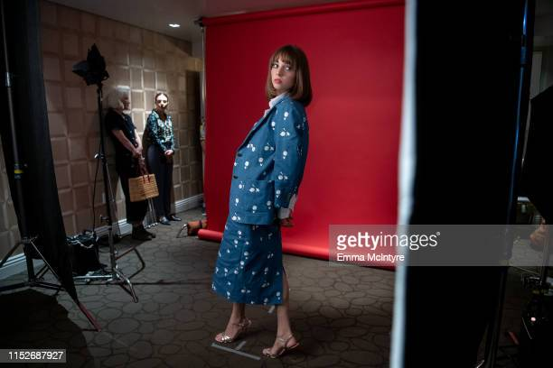 """Maya Hawke attends the Season 3 """"Stranger Things"""" press junket at The London Hotel on June 27, 2019 in West Hollywood, California."""