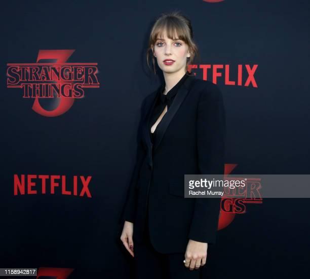 Maya Hawke attends the Stranger Things Season 3 World Premiere on June 28 2019 in Santa Monica California