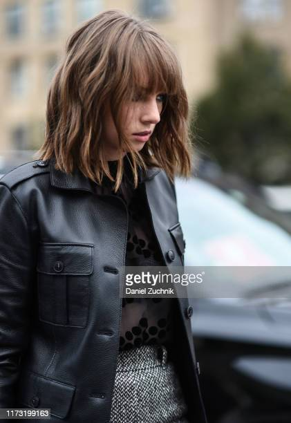 Maya Hawke is seen outside the Tory Burch show during New York Fashion Week S/S20 on September 08 2019 in New York City