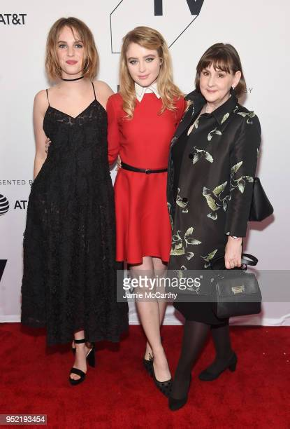 Maya Hawke Kathryn Newton and Heidi Thomas attend the screening of 'Little Women' during the 2018 Tribeca Film Festival at SVA Theatre on April 27...