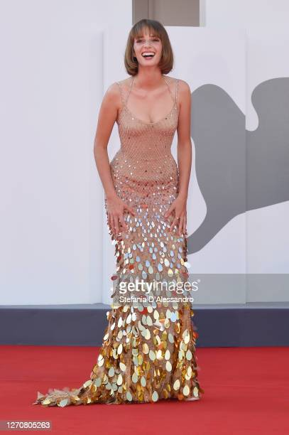 "Maya Hawke walks the red carpet ahead of the movie ""Mainstream"" at the 77th Venice Film Festival on September 05, 2020 in Venice, Italy."