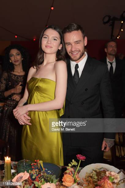 Maya Henry and Liam Payne attend the gala dinner in honour of Edward Enninful winner of the Global VOICES Award 2019 during #BoFVOICES on November 22...