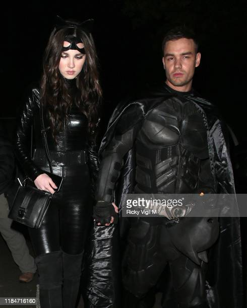 Maya Henry and Liam Payne seen attending Jonathan Ross Halloween party on October 31 2019 in London England