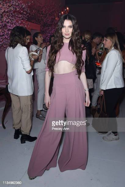 Maya Henry attends Patrick Ta Beauty Launch on April 4 2019 in Los Angeles California