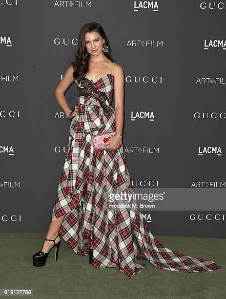 Maya Henry attends the 2016 LACMA Art Film Gala honoring Robert Irwin and Kathryn Bigelow presented by Gucci at LACMA on October 29 2016 in Los...