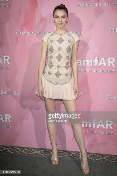 Maya Henry attends the Amfar Gala At The Peninsula Hotel In Paris on June 30 2019 in Paris France