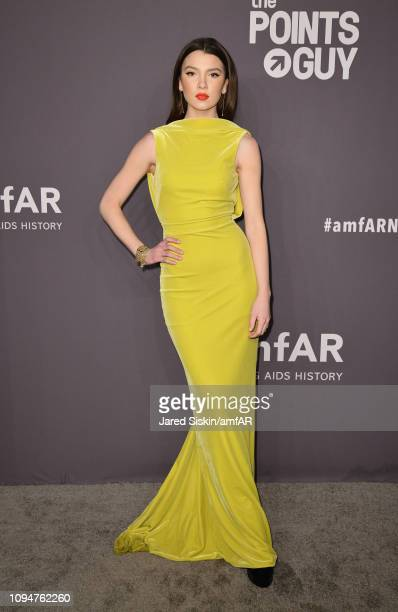 Maya Henry attends the amfAR New York Gala 2019 at Cipriani Wall Street on February 6 2019 in New York City