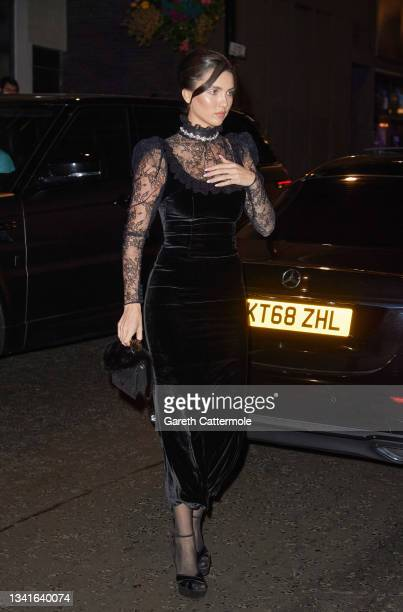 Maya Henry attends the British Vogue x Tiffany & Co. Fashion and Film party at The Londoner Hotel on September 20, 2021 in London, England.