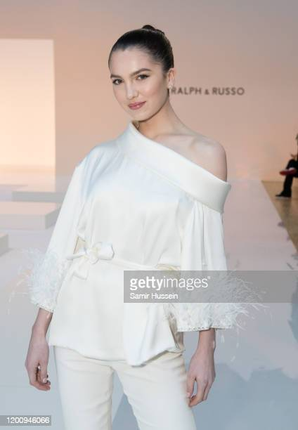 Maya Henry attends the Ralph Russo Haute Couture Spring/Summer 2020 show as part of Paris Fashion Week on January 20 2020 in Paris France