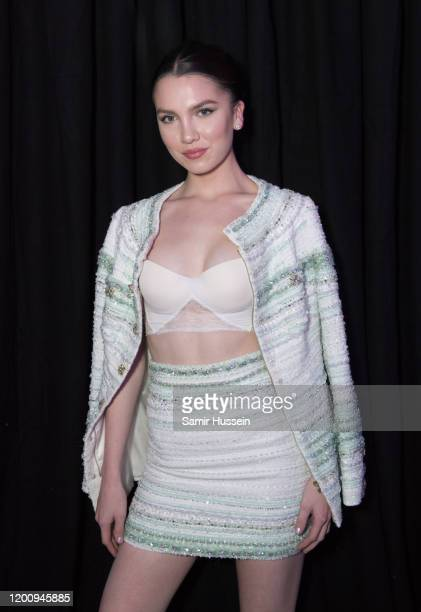 Maya Henry attends the Ralph Russo party as part of Paris Fashion Week at Pavillon Gabriel on January 20 2020 in Paris France
