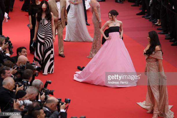 Maya Henry attends the screening of La Belle Epoque during the 72nd annual Cannes Film Festival on May 20 2019 in Cannes France