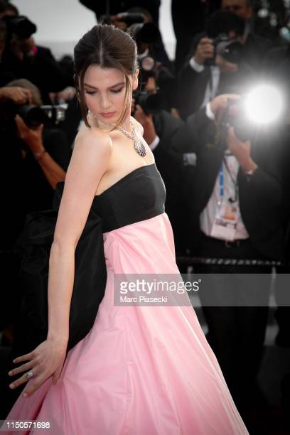 Maya Henry attends the screening of Le Belle Epoque during the 72nd annual Cannes Film Festival on May 20 2019 in Cannes France