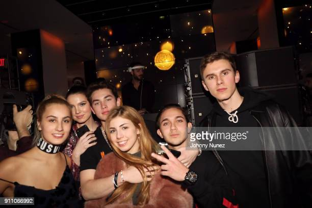 Maya Henry Thomas Henry Jr and guests attend the Republic Records PreGrammy Party at Cadillac House on January 26 2018 in New York City
