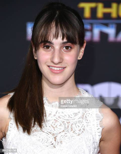 Maya Jade Frank arrives at the Premiere Of Disney And Marvel's 'Thor Ragnarok' on October 10 2017 in Los Angeles California