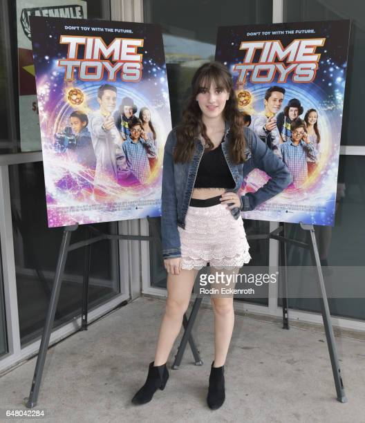 Maya Jade Frank attends premiere of 'Time Toys' at Laemmle NoHo 7 on March 4 2017 in North Hollywood California
