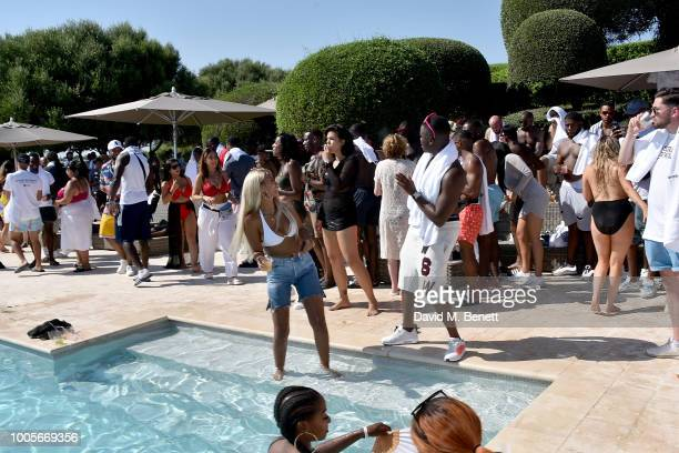 Maya Jama and Big Shaq attend as Spotify Premium throws the ultimate party in Spain for Stormzy's 25th birthday on July 26 2018 in Menorca Spain