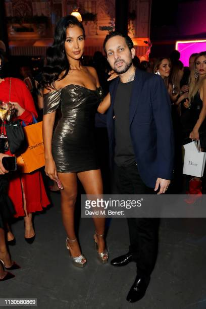 Maya Jama and Dynamo attend Naked Heart Foundation's Fund Fair with LuisaViaRoma at The Roundhouse on February 18 2019 in London England