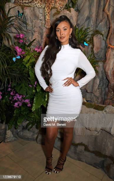 Maya Jama attends Annabels Rainforest Evening, a fundraising dinner for the Amazon via The Caring Family Foundation, at Annabel's on September 23,...