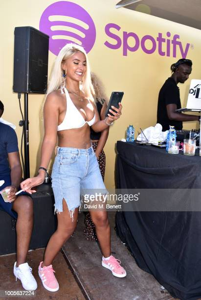 Maya Jama attends as Spotify Premium throws the ultimate party in Spain for Stormzy's 25th birthday on July 26 2018 in Menorca Spain