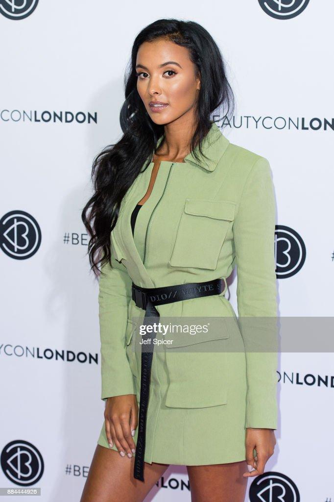 Maya Jama attends Beautycon Festival 2017 at Olympia London on December 2, 2017 in London, England.