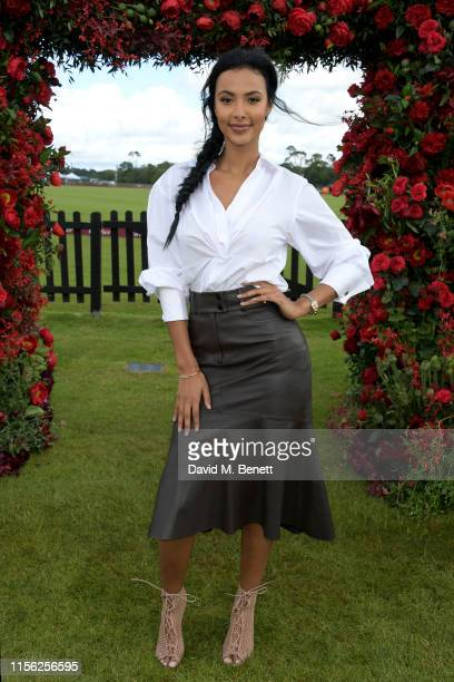 Maya Jama attends Cartier Queen's Cup Polo 2019 on June 16 2019 in Windsor England