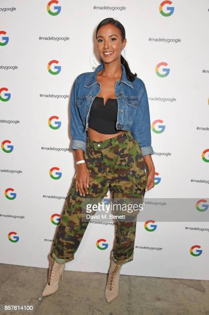 Maya Jama attends Google's Pixel 2 phone launch at The Old Selfridges Hotel on October 4 2017 in London England