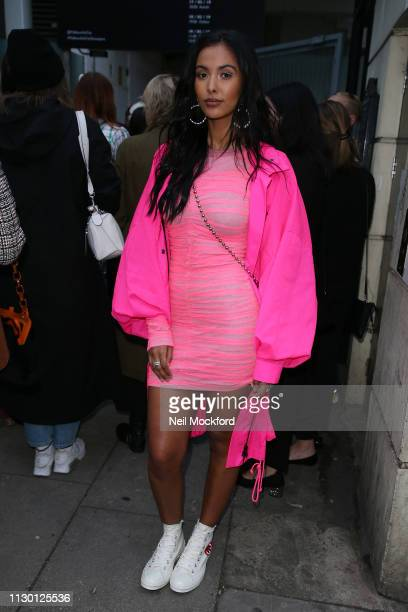 Maya Jama attends House of Holland at Ambika P3 during LFW February 2019 on February 16 2019 in London England