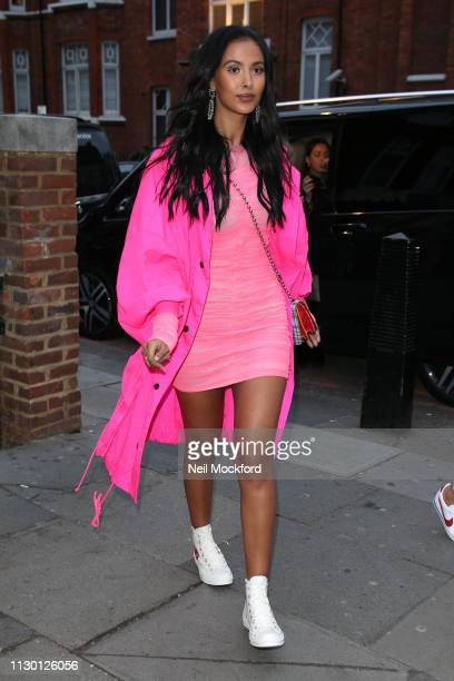 Maya Jama attends House of Holland at Ambika P3 during LFW February 2019 on February 16, 2019 in London, England.