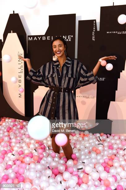 Maya Jama attends Maybelline Total Temptation on January 10 2018 in London England