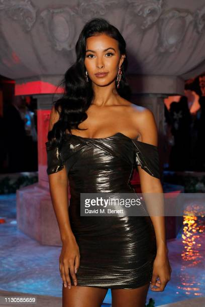 Maya Jama attends Naked Heart Foundation's Fund Fair with LuisaViaRoma at The Roundhouse on February 18 2019 in London England