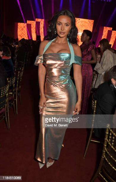 Maya Jama attends the 65th Evening Standard Theatre Awards in association with Michael Kors at the London Coliseum on November 24 2019 in London...
