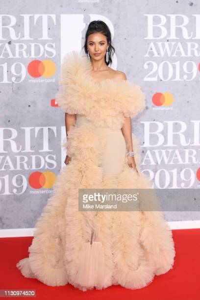Maya Jama attends The BRIT Awards 2019 held at The O2 Arena on February 20 2019 in London England
