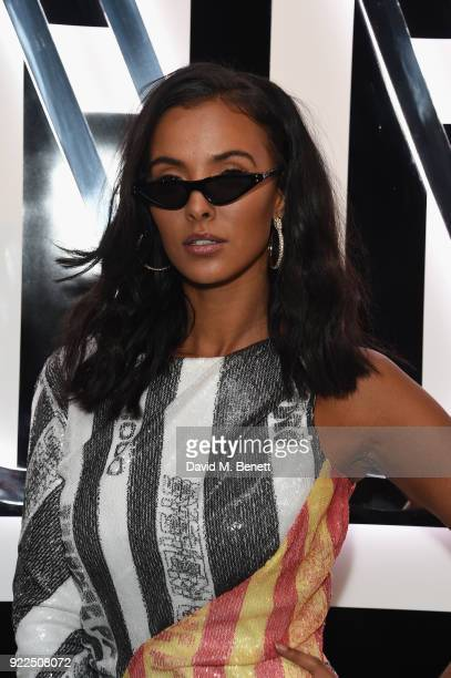 Maya Jama attends the Brits Awards 2018 After Party hosted by Warner Music Group Ciroc and British GQ at Freemasons Hall on February 21 2018 in...