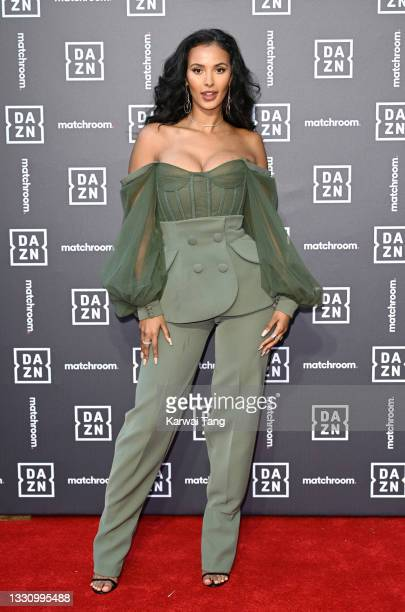 Maya Jama attends the Dazn x Matchroom VIP Launch Event at Kings Cross on July 27, 2021 in London, England.
