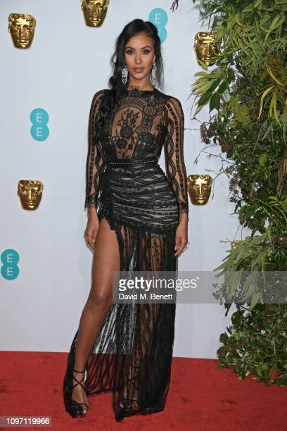 Maya Jama attends the EE British Academy Film Awards at Royal Albert Hall on February 10, 2019 in London, England.