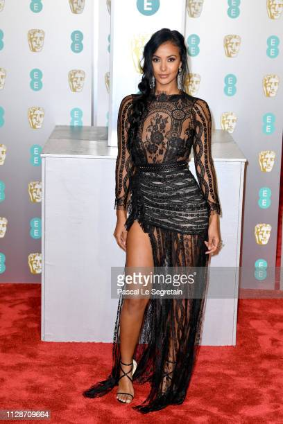 Maya Jama attends the EE British Academy Film Awards at Royal Albert Hall on February 10 2019 in London England