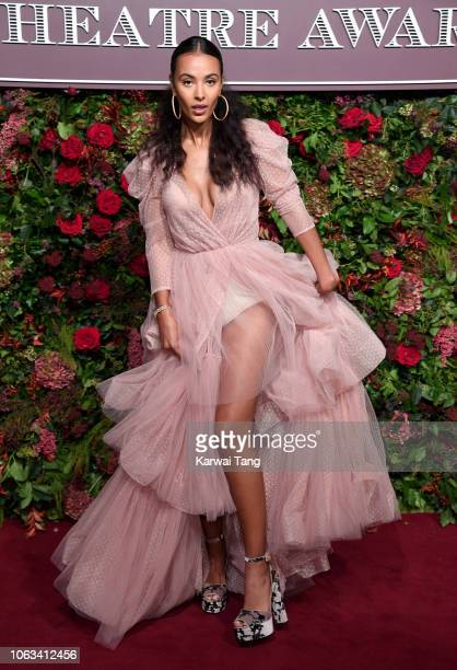 Maya Jama attends the Evening Standard Theatre Awards 2018 at Theatre Royal Drury Lane on November 18 2018 in London England