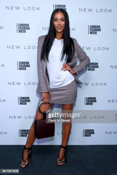 Maya Jama attends the exclusive New Look and British Fashion Council party launching London Fashion Week September 2017 at The Store Studios on...