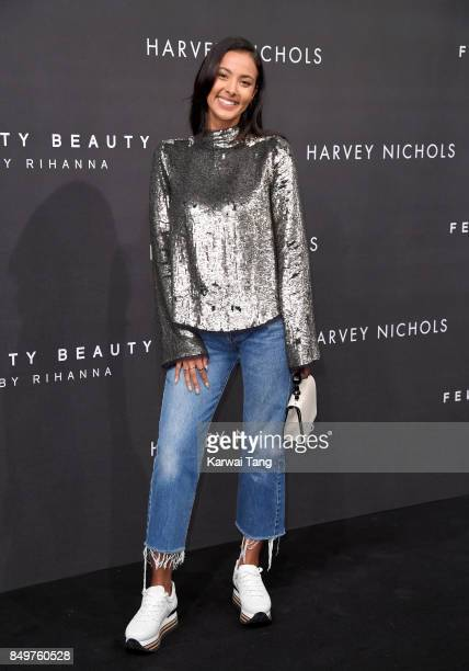 Maya Jama attends the 'FENTY Beauty' by Rihanna launch Party at Harvey Nichols Knightsbridge on September 19 2017 in London England