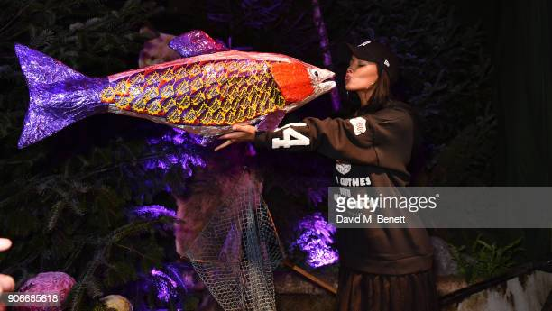 Maya Jama attends the Grand Opening of the Cadbury Creme Egg Camp on January 18 2018 in London England