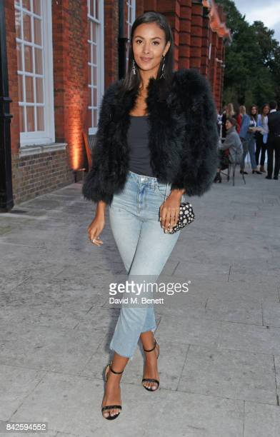 Maya Jama attends the House of Fraser VIP dinner to relaunch Issa London at The Orangery on September 4 2017 in London England