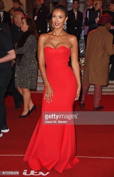 Maya Jama attends the ITV Gala held at the London Palladium on November 9 2017 in London England