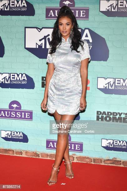 Maya Jama attends the MTV EMAs 2017 at The SSE Arena Wembley on November 12 2017 in London England