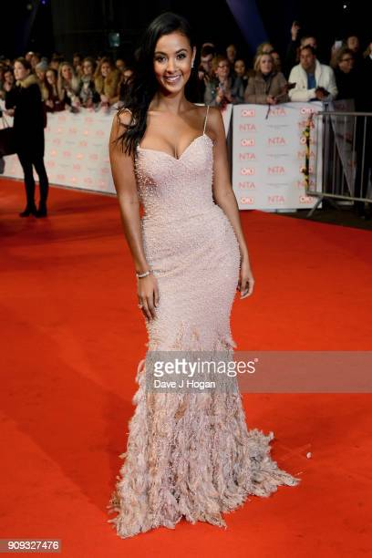 Maya Jama attends the National Television Awards 2018 at The O2 Arena on January 23 2018 in London England